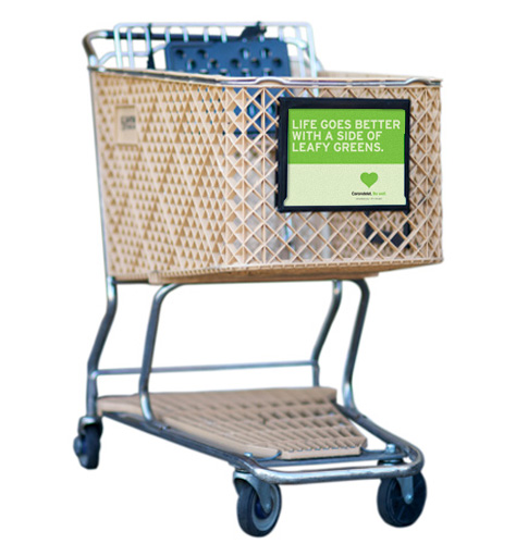 Carondelet Health Network Be Well campaign grocery cart ad - Bay Area advertising agencies