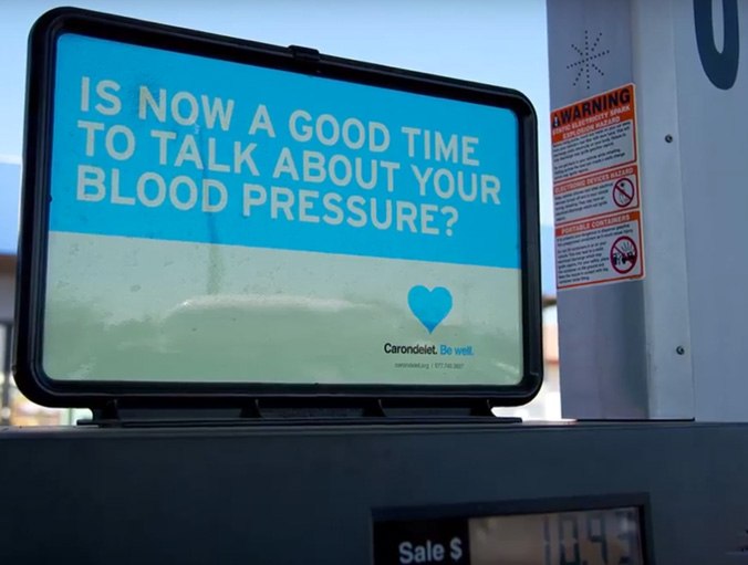 Carondelet Health Network brand ad campaign gas station ad - advertising agencies in the Bay Area