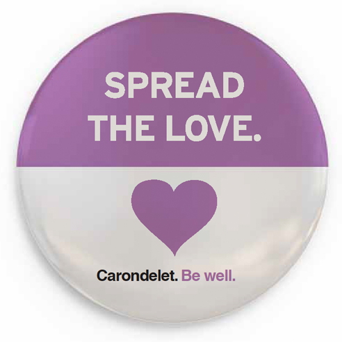Carondelet Health Network brand ad campaign button design - San Francisco creative agencies