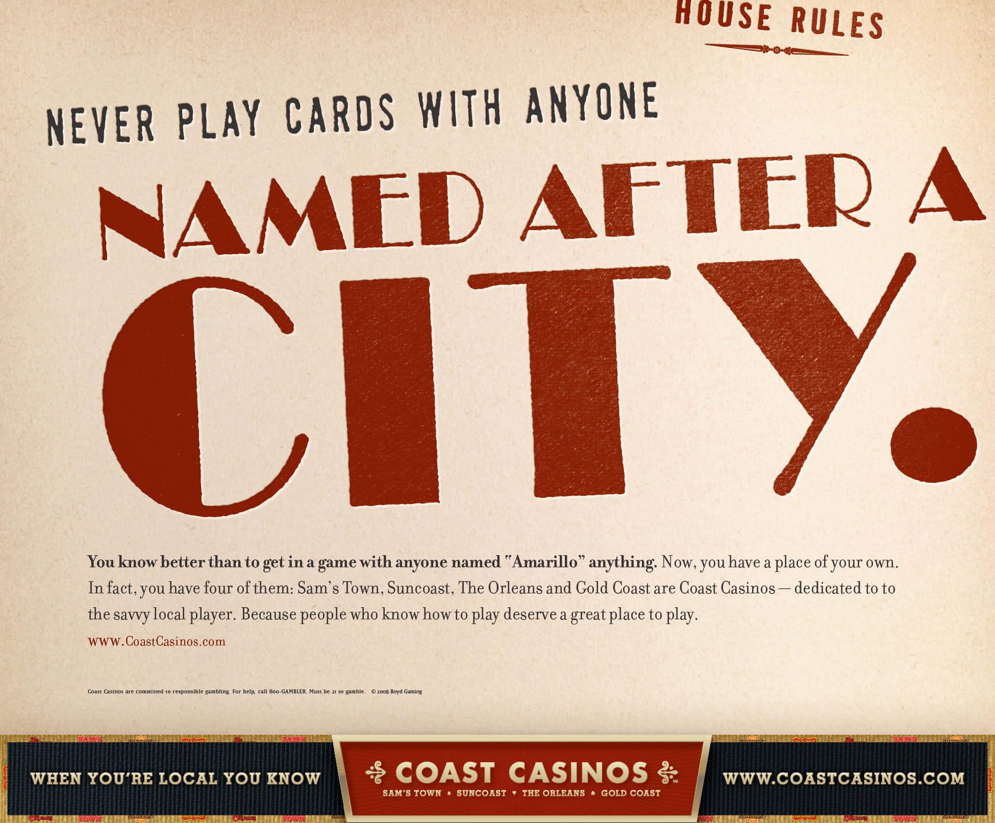Coast Casinos marketing campaign ad creative - Bay Area branding agencies