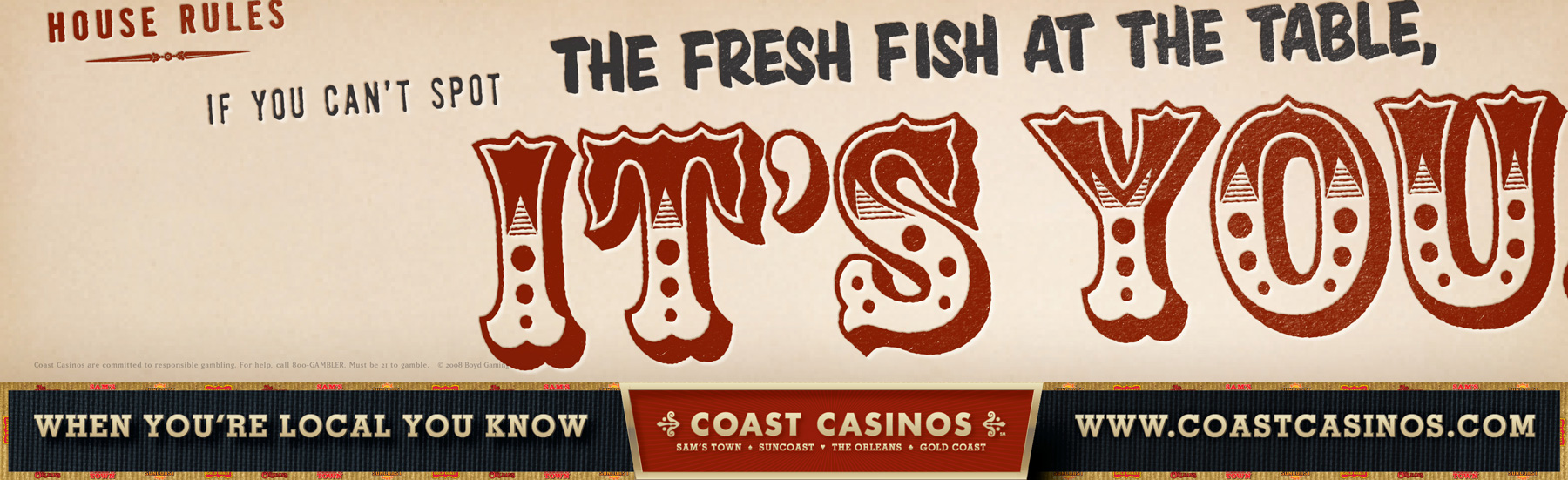 Coast Casinos marketing strategy campaign billboard - Mortar Advertising Agency San Francisco