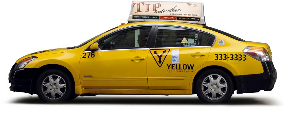 Coast Casinos branding campaign taxi ad - Mortar Creative Agency Bay Area