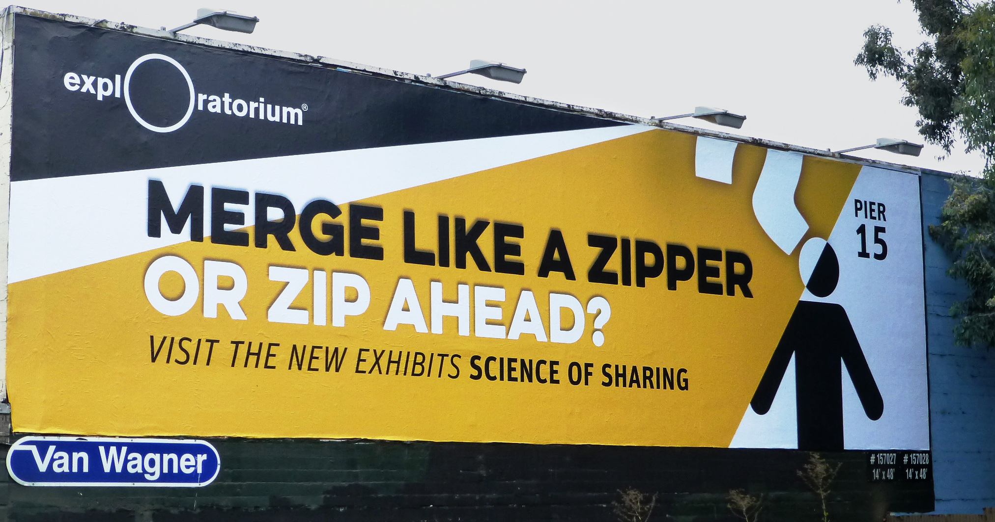 Exploratorium Science of Sharing exhibit billboard - advertising agencies in San Francisco