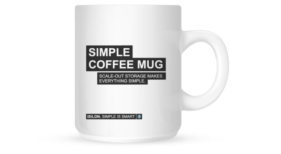 Isilon marketing strategy coffee mug collateral - Bay Area creative agencies