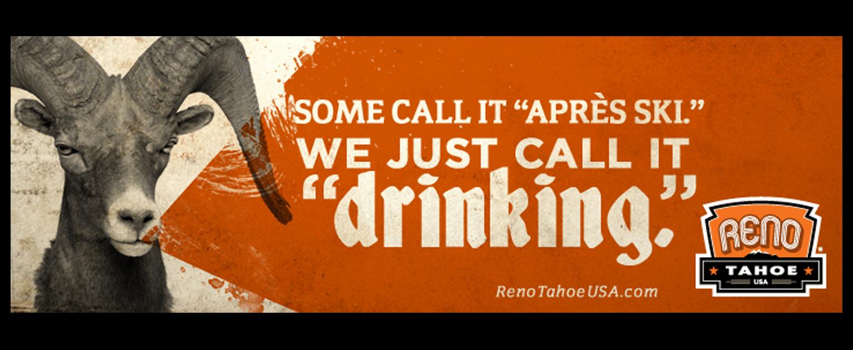 Reno Tahoe USA branding campaign billboard design - Mortar Creative Agency Bay Area