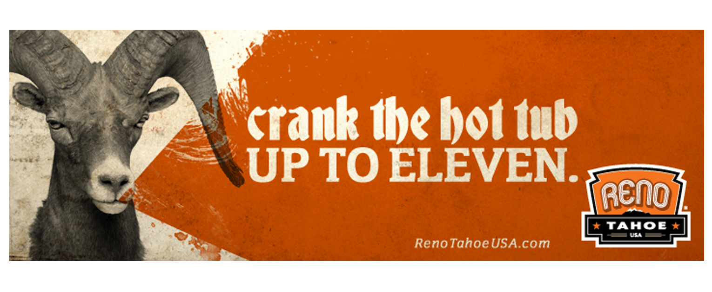 Reno Tahoe USA branding campaign billboard - San Francisco Mortar Branding Agency