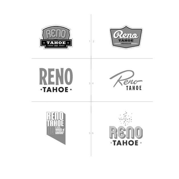 Reno Tahoe USA branding campaign previous logos identity - Mortar Advertising Agency San Francisco