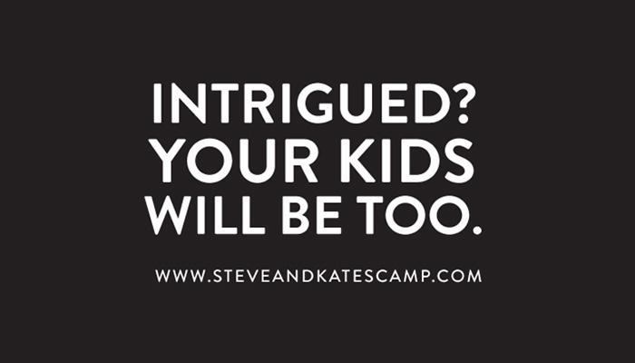 Steve & Kate's Camp direct mail design - branding agencies in San Francisco