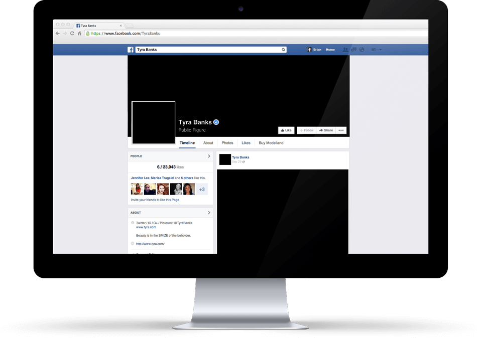 The Tyra Banks Company Facebook social activation launch campaign - San Francisco branding agencies