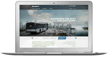 Westport Innovations website design and development - San Francisco Mortar Advertising Agency