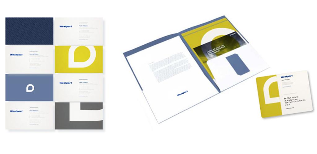Westport Innovations brand identity collateral design - San Francisco Mortar Branding Agency