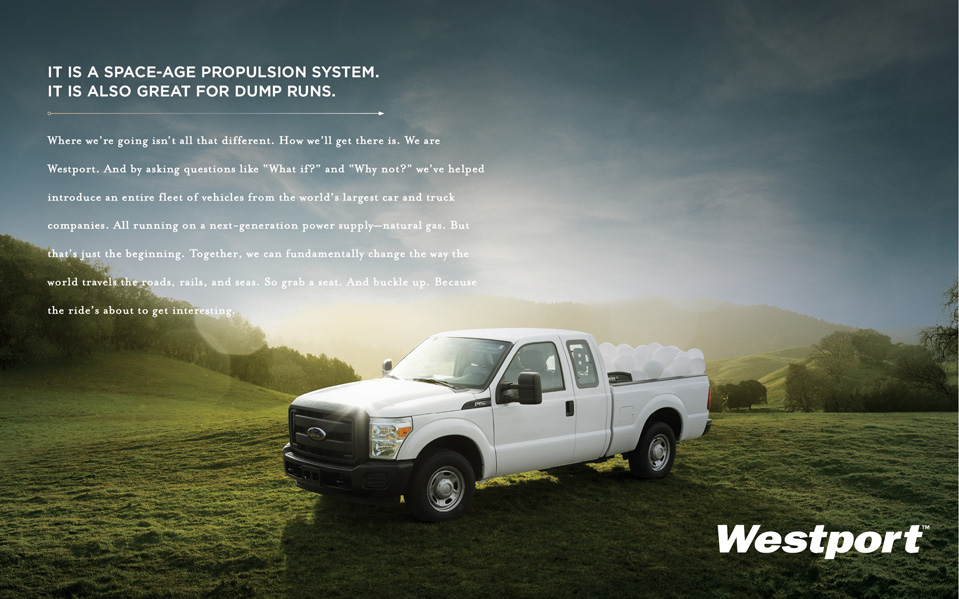 Westport Innovations ad campaign print creative - Bay Area Mortar Advertising Agency