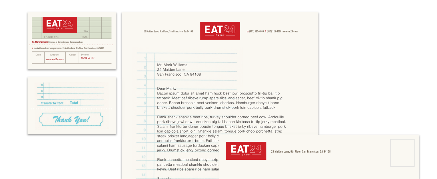 Eat24 Collateral - Mortar San Francisco Advertising Agency