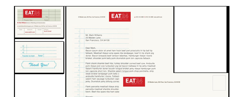 Eat24 collateral design rebrand - Bay Area Mortar Creative Agency