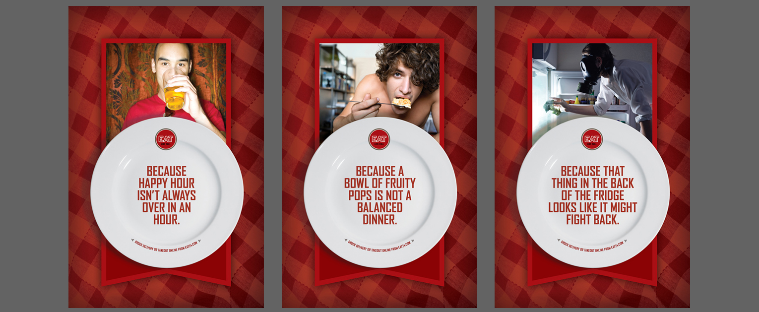 Eat24 print ad campaign concept and design - Bay Area Mortar Advertising Agency