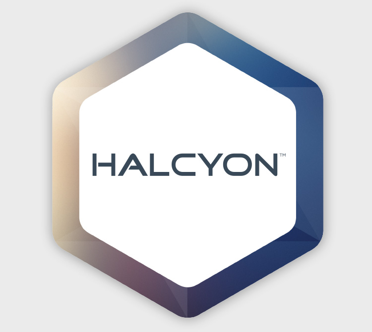Halcyon logo - Varian medical device case study - Mortar Creative Agency San Francisco