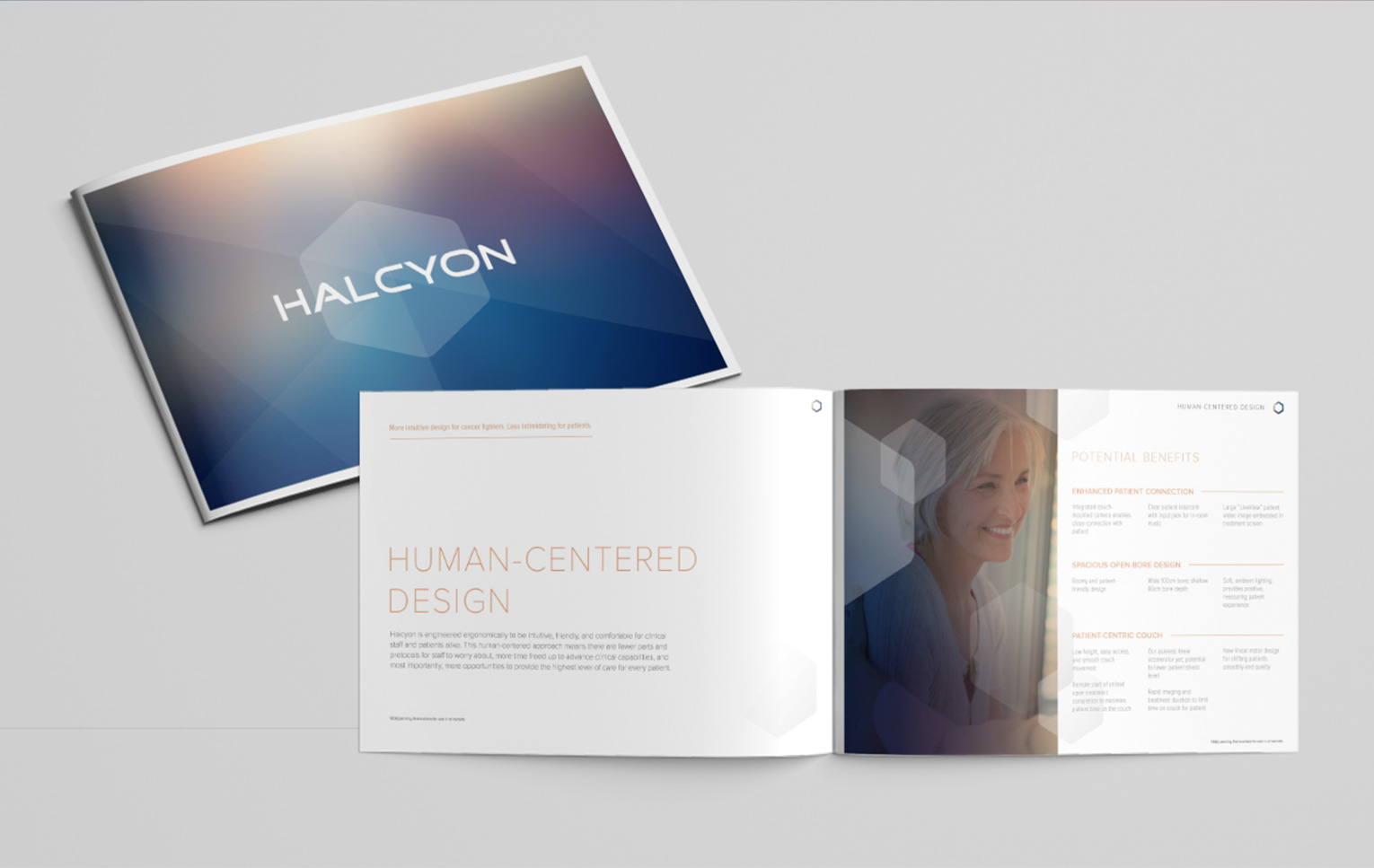 Halcyon brochure - Product launch marketing and branding Mortar Creative Agency Bay Area