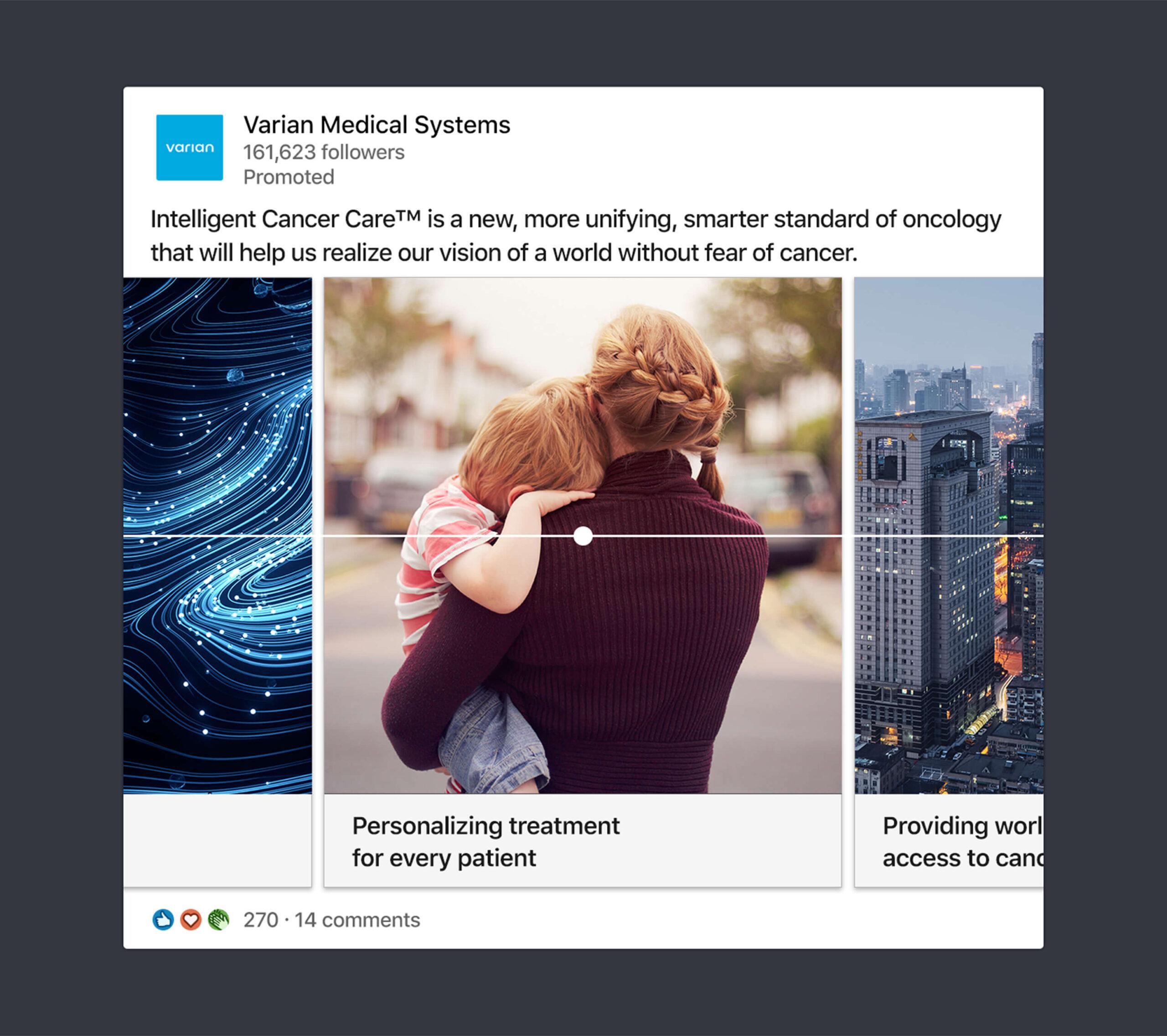 Varian ICC LinkedIn ad