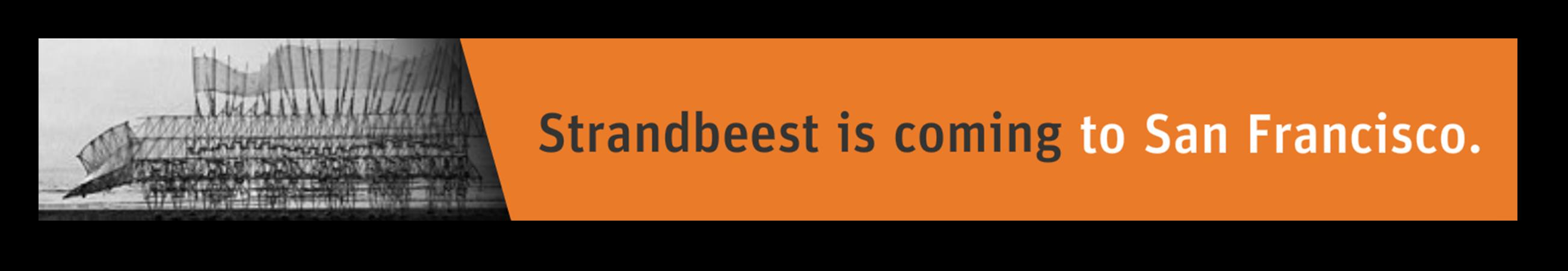 Exploratorium Strandbeest banner