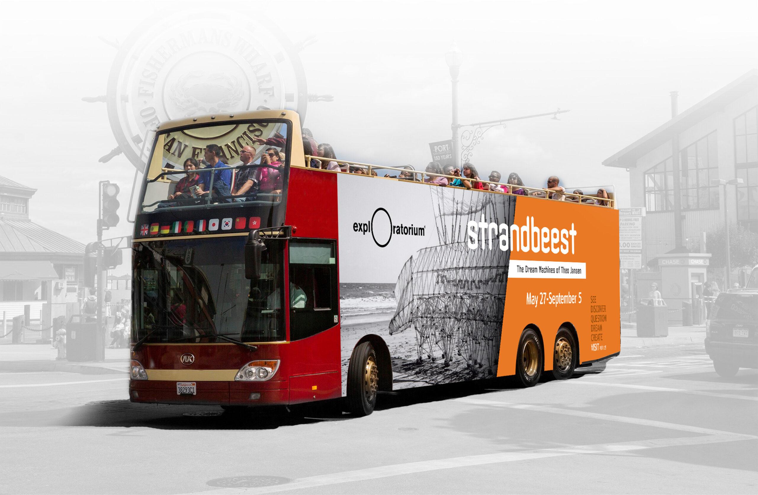 Exploratorium Strandbeest bus wrap