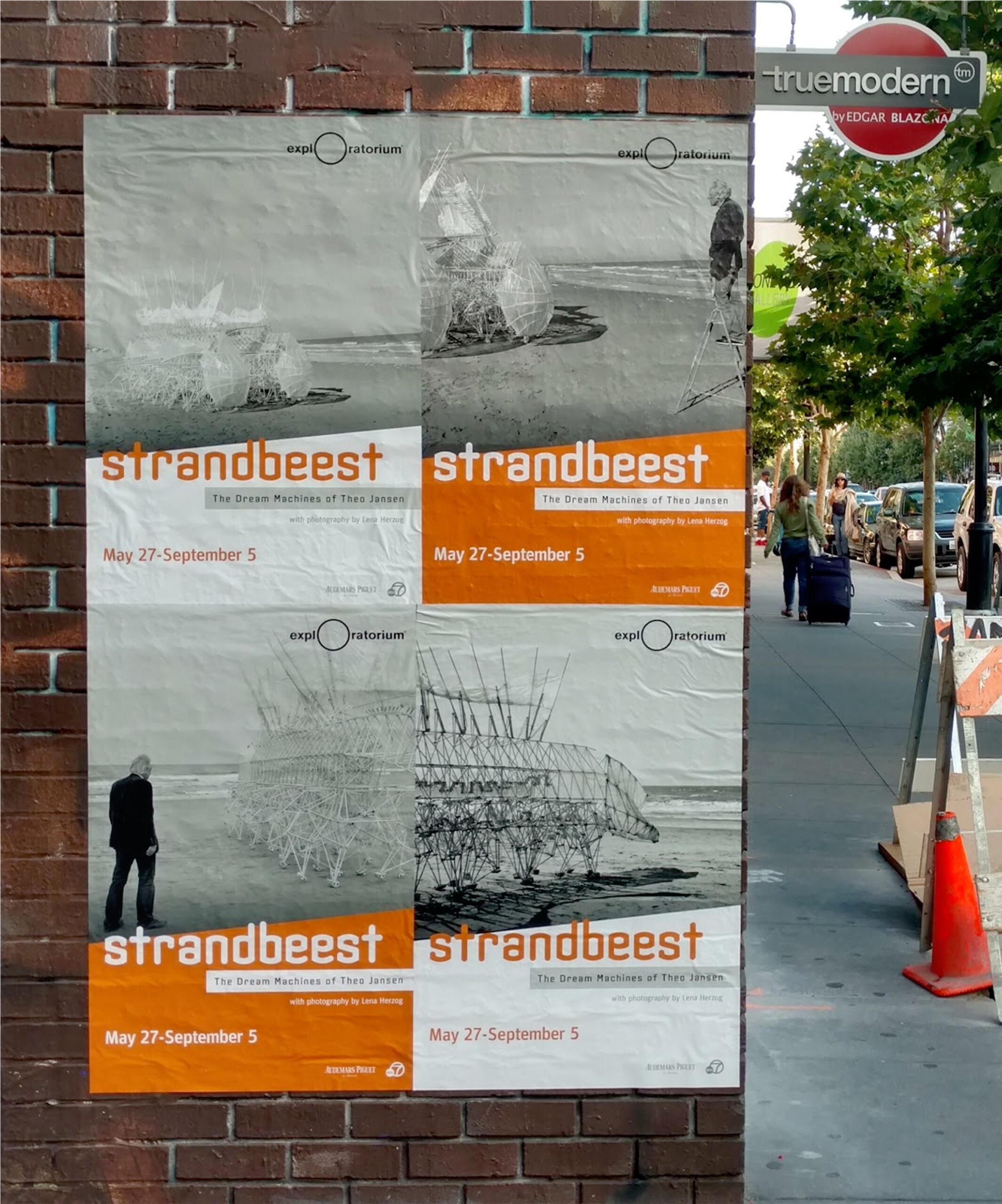 Exploratorium Strandbeest wheatpaste posters