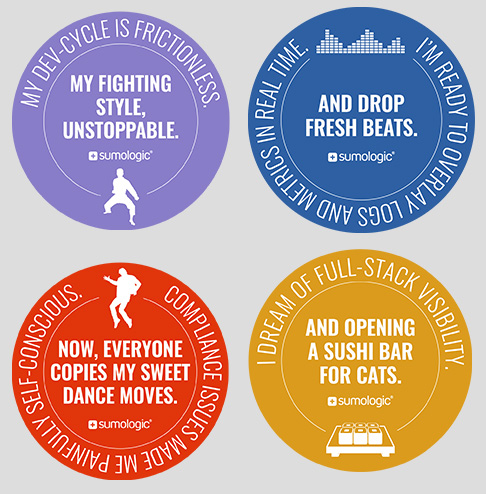 Sumo Logic sticker collateral awareness campaign - advertising agencies in the Bay Area
