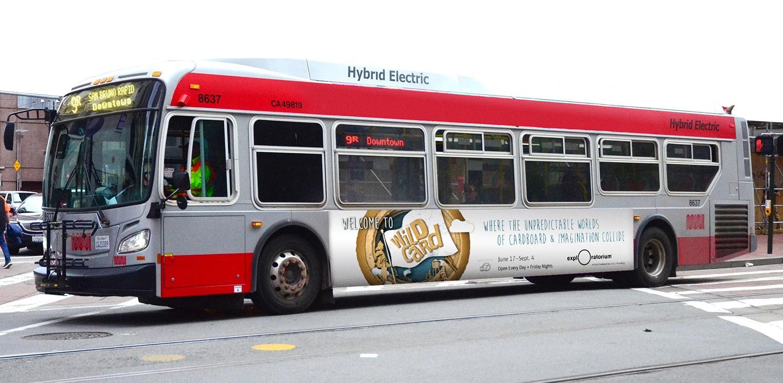 Exploratorium: WildCard bus wrap